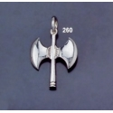 260 Sterling Silver Minoan Double Headed Axe Pendant (M)
