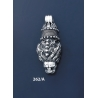 262/A Silver Lion's Head Torc Pendant (L)