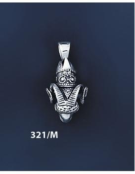 321/M Silver Ram's Head Torc Pendant (S)