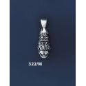 322/M Silver Lion's Head Torc Pendant (S)