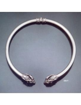 234/T XLarge Capricorn torc collar necklace
