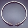 236/T XLarge Lion torc collar necklace