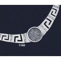 1160 Greek Key/Meander Necklace Phaistos Disc Coin (L)