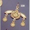 338/18K Malia bees pendant 18 carrat yellow gold