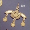 338/18K Malia bees pendant 18 carrat yellow gold
