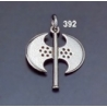 392 Sterling Silver Minoan Double Headed Axe Pendant