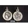 310 Aphrodite (Venus) coin pendant