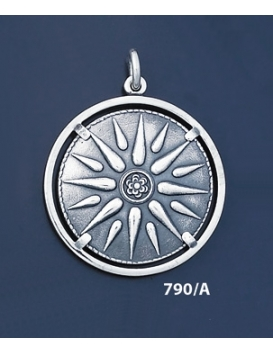 790/A Sun/Star of Macedonia mounted on bezel (XL)