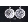 761 Athena & Herakles/Hercules silver Diobol pendant
