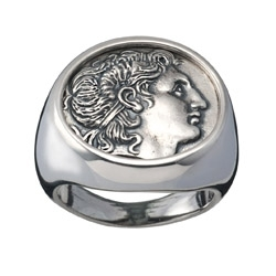 ea36c360ff7e3 Greek rings. Silver ancient coin ring jewelry - Greek Jewelry Shop