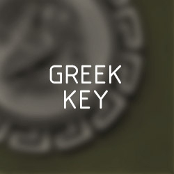 Greek-key (Meander) coin pendants