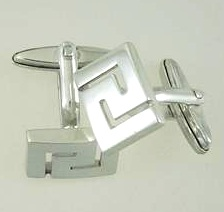 Greek Key Meander cufflinks