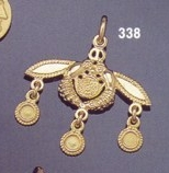 Malia bees pendant, bees of malia, crete, greek jewellery