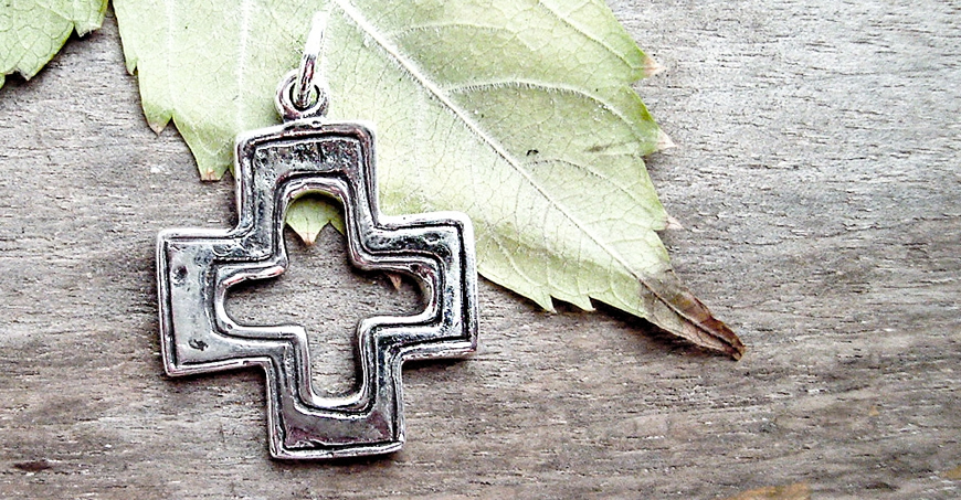 Imperfect Byzantine Cross. Jewelry from Byzantium - Greek Orthodox jewellery
